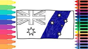Austailia Flag How To Draw Australia Flag Drawing The Australian Flag Art