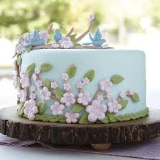 bluebird bough fondant cake wilton