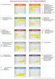 school calendar haywood county schools