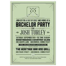 stag do invite party invitation retro hipster golf