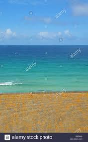 Blue Flag Beach Blue Flag Beach Cornwall Stockfotos U0026 Blue Flag Beach Cornwall