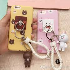 metal rabbit ring holder images Cute line friends cony brown metal ring holder case for iphone 6 jpg