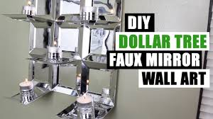 Mirror Wall Decor by Diy Dollar Tree Glam Faux Mirror Wall Art Candle Holder Easy Z