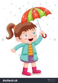 with umbrella in rain clipart clipartxtras