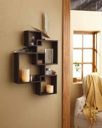 brown wall shelf set