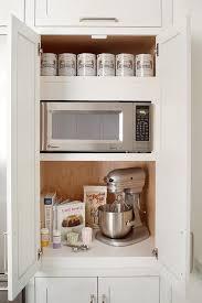 cabinet for kitchen appliances kitchen with hidden microwave transitional kitchen