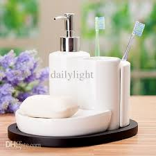 Ceramic Bathroom Accessories by Online Cheap Bathroom Set Ceramic Bathroom Supplies Kit Soap Dish