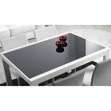 Table Verre Noir Extensible by Table à Manger Extensible Oregon Avec Plateau En Verre De Design