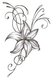 Fairy And Flower Tattoo Designs Fairy N Lily Flower Tattoo Design