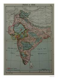 British India Map by Sarmaya Your Window To The World Map Of India In 1856