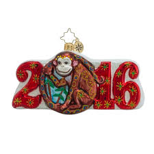 christopher radko ornaments radko year of the monkey dated