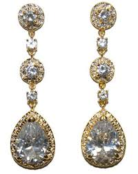 gold chandelier earrings cz chandelier earrings beloved sparkles