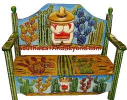 Mexican Chairs Hand Painted Mexican Benches
