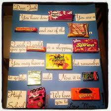 high school graduation gift ideas for him i just made this candy gram for my s middle school graduation