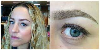 eyeliner tattoo cost what it s like to have your eyebrows tattooed on