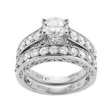 Sterling Silver Wedding Ring Sets by Sterling Silver Bridal Sets Rings Jewelry Kohl U0027s