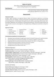 Sample Resume For Purchasing Agent Warehouse Material Handler Resume Sample Resume Template Example