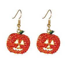 dangle earring pumpkin earrings hypoallergenic