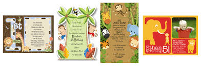 jungle themed birthday party invitations images
