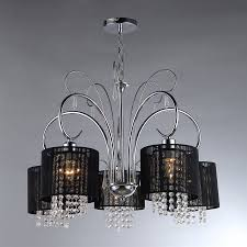 Shaded Crystal Chandelier Shop Warehouse Of Tiffany 26 In 5 Light Chrome Vintage Shaded