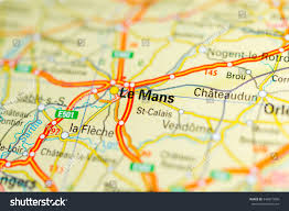 France On Map by Macro View Le Mans France On Stock Photo 349971890 Shutterstock