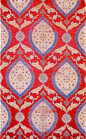 ottoman with patterned fabric beautiful indian traditional silk brocade fabric fat quarter 18