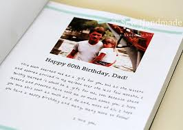 60 letters for 60th birthday sew handmade 60 years of memories book
