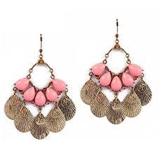Pink Chandelier Earrings Gipsy Earrings Pink Chandelier Earrings Drop
