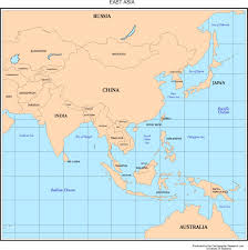 Blank East Asia Map by Maps Of Asia