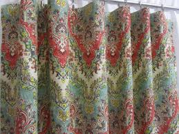 Teal Drapes Curtains Chevron Curtains Boho Curtain Panels Red Teal Green Window