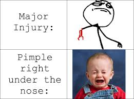 Pimple Meme - severity of pain memedroid