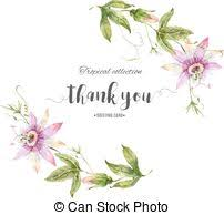eps vector of ector card with watercolor rose flowers frame