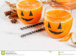pumpkin drink for halloween party stock photo image 98954832