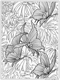 printable butterfly for adults coloring pages printable