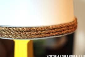 Lamp Shades Diy Diy Nautical Rope Lamp Shade Upcycled Treasures