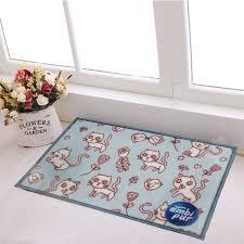 Wash Bathroom Rugs 40cmx60cm Blue Cat Children Carpet And Rugs Machine Wash