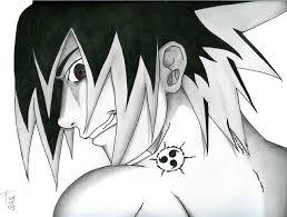sasuke cursed seal by hand drawn on deviantart