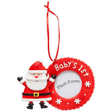 baby u0027s first christmas frame ornament big w