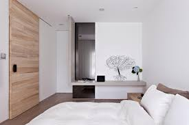 white wood concrete bedroom interior design ideas