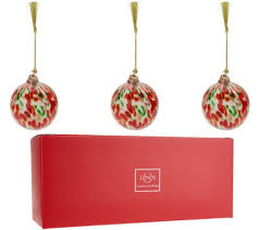 lenox s 3 blown glass ornaments with gift boxes page 1