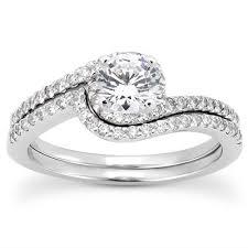 engagement rings unique unique settings engagement ring set ens3085 worthington jewelers