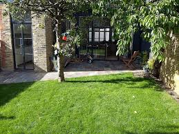 exciting simple small english garden design with fish pond image