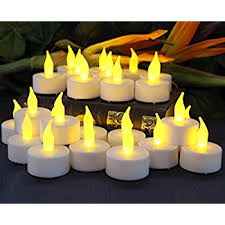 flameless candles by led lytes 24 yellow flickering