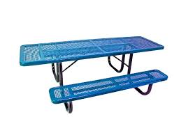 Commercial Picnic Tables by 8 U0027 Ada Accessible Peforated Metal Picnic Table Commercial