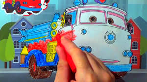 fire truck disney cars coloring pages lightning mcqueen coloring