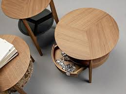 round wood coffee table with storage with inspiration image 9934
