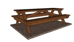 8 Ft Picnic Table Plans Free by How To Build A Picnic Table With Separate Benches