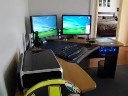 computer desk for dual monitors gaming computer desk for monitors modern home