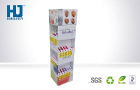 point of sale customized cosmetic cardboard display stand for nail