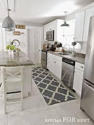 galley kitchen rugs best 20 kitchen rug runners ideas on
